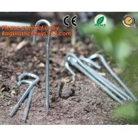 100 Pieces Anti Grass Turf Nails Mulching Cloth Gardening Plastic Holder Tools,500PCS/CTN OR 1000PCS/CTN,60CTNS/PALLET,2 Manufactures