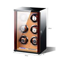 China Vertical Design Watch winder 6 Slots Watch Winder Wrist Watch Winder Box watch winder suppliers on sale