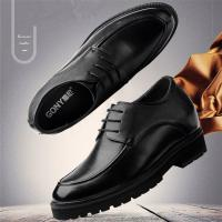 China Taller men 12cm height increasing elevator leather shoes on sale