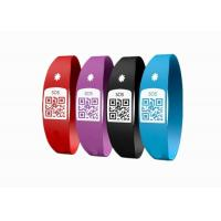Latex Free Custom Silicone Bracelets / SOS Medical ID Bracelet With Unique QR Code Manufactures