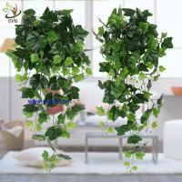UVG interior decoration 1 meter green hanging faux ivy with plastic vine leaves for sale CHP01 Manufactures