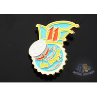 Full Color Enamel Custom And Stock Metal Lapel Pin Badges Gift Items Imitation Gold Plating Manufactures
