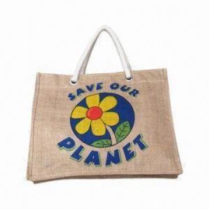 Eco-friendly Linen Promotional Gift Bag/Handbag with Unique Pattern Manufactures