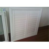 Professional Glass Jalousie Windows , Powder Coating White Window Shutters Manufactures