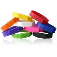 China Colored custom large rubber USB Silicone Bracelet, wristband usb drive for children on sale