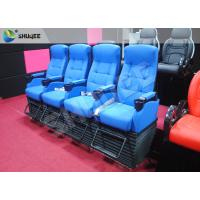 Blue 4 Seats 1 Sets 4D Home Cinema Equipment With Foot Support Manufactures
