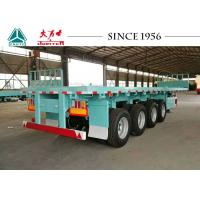 China 4 Axle Flatbed Trailer For Sale, 40Ft Flatbed  Trailer For Container Transport on sale