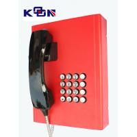 China Railway Red Emergency Phone Auto Dial Wearable Vandal Resistant on sale