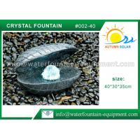 Shell Shape Outdoor Garden Water Fountains ,  Durable Granite Water Fountain Manufactures