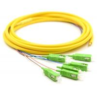 Simplex Fiber Optic Pigtail With SM Yellow Fiber Optic Cable Low Salt Spray Manufactures