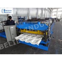 Metal Roof Tile Roll Forming Machine , Efficient Metal Roofing Roll Former Manufactures
