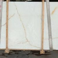Popular Beautiful Backlit White Onyx Stone Slab For Floor / Wall / Countertop Manufactures
