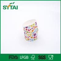 3-32oz Disposable Ice Cream Cups With Lids , Custom Printed Ice Cream Cups ISCO9001 Manufactures
