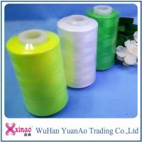 Single / Double Ring Spun Sewing Thread 100% Polyester Thread with Custom Color Manufactures