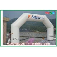White 6 x 3M Inflatable Arch , Inflatable PVC Advertising Hotel Arch Manufactures