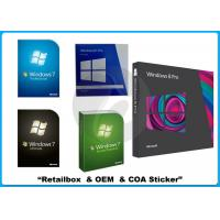 32/64 bit Windows 7 Pro Retail Box Win 7 software WITH COA sticker online activation Manufactures