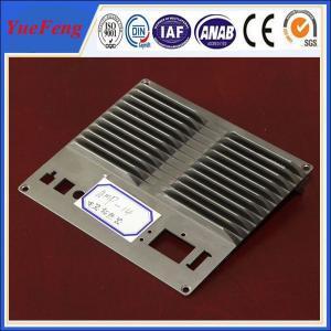 CNC machined die casting aluminum extrusion heat sink(radiator) profiles Manufactures