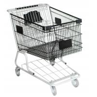 China Secure portable Supermarket Shopping Trolleys on wheels American style grocery cart on sale