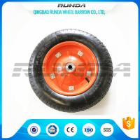"Middle Size Heavy Duty Rubber Wheels 13""X3.25-8 Solid Steel Rim With Screws Manufactures"