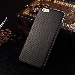 Slim Leather Case Carbon Fiber Back Cover Business Style Lightweight 52g