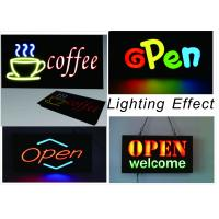 Buy cheap 23X43cm LED Neon Open Sign with Chain With Resin Letter Storefront Sign from wholesalers