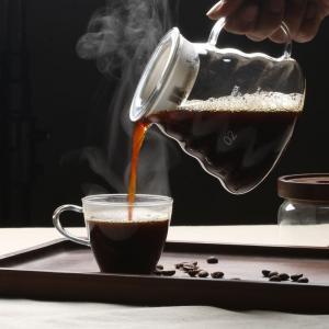 China 600ml glass high borosilicate coffee maker glass coffee pot on sale