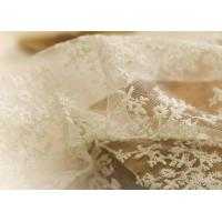 Delicate 130CM Floral Embroidered Nylon Lace Fabric For Underwear Nightwear Manufactures