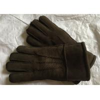 Customized Size Black Shearling Mittens Warm Soft With 100% Australia Sheepskin Manufactures