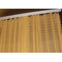 0.8MM Dia 4mm Decoraive Metal Mesh Curtain, Metal Coil Drapery for Wall Covering Manufactures