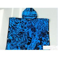 Childrens Poncho Beach Towels , Poncho Swimming Towels For Sports