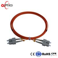 Buy cheap Duplex Fiber Optic Patch Cord Leads SC UPC To SC UPC Multimode LSZH Jacket from wholesalers