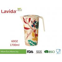 Recycled Wearable Bamboo Water Jug Plastic Water Pitcher Customized Prints Manufactures