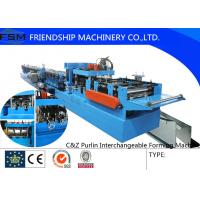 Automatic Hydraulic C Z Purlin Roll Forming Machine With PLC Control System Manufactures