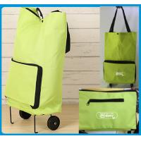 Lightweight Foldable Shopping Trolley Bag with handles and Plastic wheels - Low Price For Promotional Marketing Manufactures