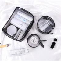 Portable 3 Piece Clear Plastic Cosmetic Bags Good Stability Every Size Available Manufactures