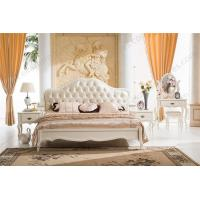 China Rococo furniture, solid wood double bed 8009 on sale