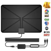 Amplified HDTV Digital Television Antennas 60 Mile Range 4K 1080p Paper Thin Manufactures