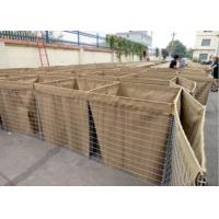 Galvanized Welded Hesco Barriers, Military Hesco Bastion With Sand For Defence Manufactures