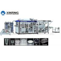 China Automatic HDPE Recycling Machine Plastic Thermoforming Machine for Disposable Cups Containers on sale