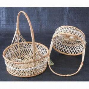Egg Blue/Fruit Basket, Made of Bamboo