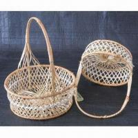 Quality Egg Blue/Fruit Basket, Made of Bamboo for sale