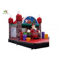 Merry Christmas Inflatable Santa Claus Bouncy Castle For Xmas Decoration 20ft Manufactures