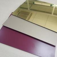 Buy cheap High Reflective Rate Aluminum Mirror Sheet Glass Processing Anodized Stable from wholesalers