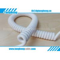 China Pair Twisted Conductor And Tinned Copper Braiding Shield Customized Spiral Cable on sale