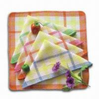 Kitchen Towels, Measures 15 x 25-inch, Made of 100% Cotton with Printing in Fringes Manufactures