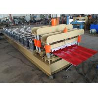 China Zinc Plated Roof Panel Roll Forming Machine With Galvanized Frame 12 Years Lifetime on sale