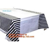 Biodegradable compostabl tablecloth table cover, dress up your party dessert buffet with patterned plastic table clothes Manufactures