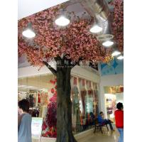 high simulation large outdoor ornamental flowering plants artificial pink blossom tree Manufactures