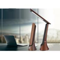2000mAh USB Rechargeable Desk Lamp 260lm With Calendar Alarm Clock Leather Texture Manufactures