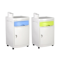 China Movable 800MM ABS Plastic Hospital Bedside Cabinet on sale
